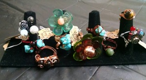 Handcrafted with copper or aluminum wire and a variety of beads - vintage beads, semiprecious stones, etc
