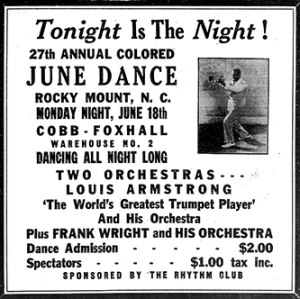 June_German_Rocky_Mount_Telegram_Louis_Armstrong_June_German