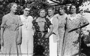 Women always wore housedresses in the morning and 'nice' day dresses in the afternoon.