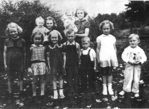 A typical gather of children during the 1940's - A Pinterest Image
