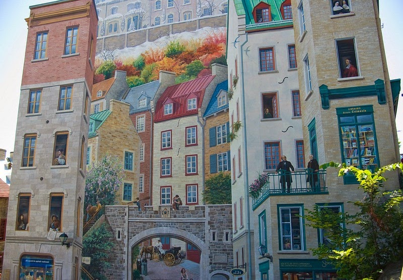 The Wall Murals of Rocky Mount NC Inspired By Quebec City Canada